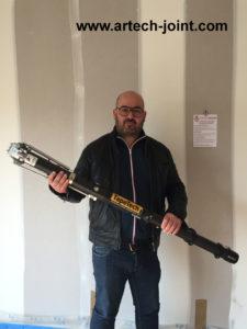jointeur au bazooka en Vendée, pour les joints de plaques de plâtre