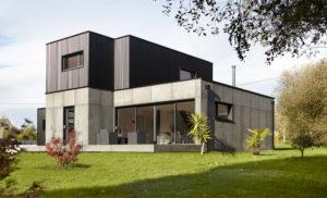 Construction en bois et placo, maison E-Loft jointer par Artech Joint Bretagne